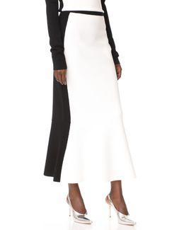 Pull On Knit Flare Skirt