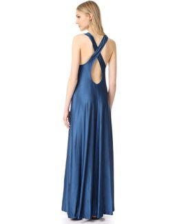 Sleeveless Maxi Dress With Pocket