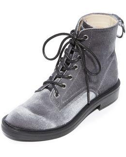 Bardot Lace Up Combat Boots