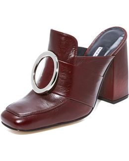 Munise Buckle Leather Mules