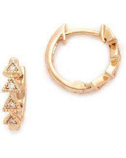 Emily Sarah Triangle Huggie Earrings