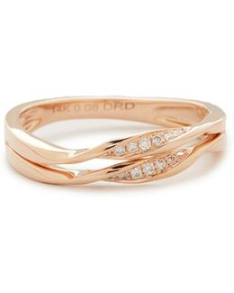 Carly Beth 14kt Rose Gold Double-twist Ring