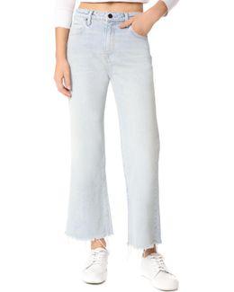 Cropped Loose Kick Bleach Jeans