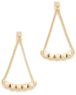 Pyramid Tennis Link Earrings