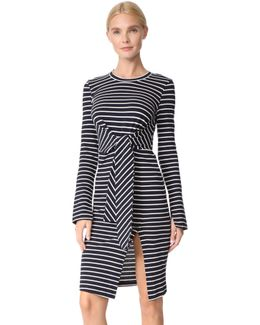 Striped Dress With Knot