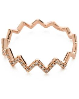 Pave Diamond Zigzag Stack Rings
