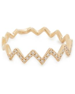 Pave Diamond Zigzag Stack Ring