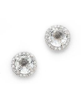 Diamond White Topaz Stud Earrings
