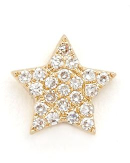 Diamond Star Single Stud Earring