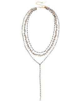 Three Layer Lariat Necklace