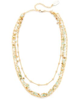 Three Layer Collar Peruvian Opal Necklace