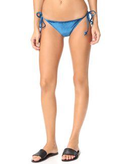 Velour Tie Side Bikini Bottoms