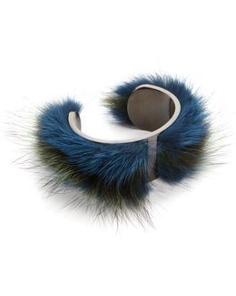Fur Cuff Bracelet