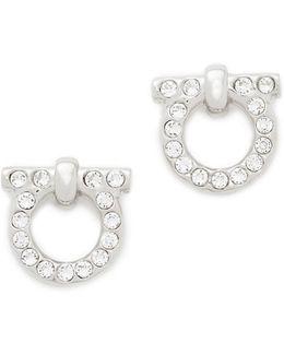 Large Crystal Gancio Stud Earrings