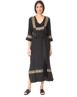 Chachani Embellished Silk Dress