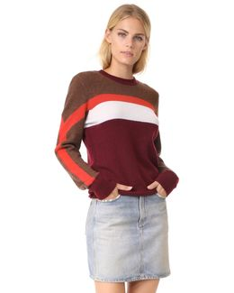 Colorblocked Cashmere Sweater