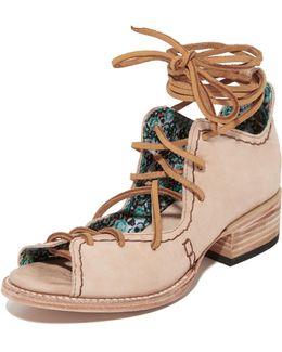 Peace Lace Up Booties