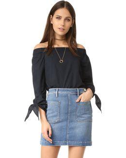 'show Me Some Shoulder' Off The Shoulder Cotton Blouse