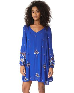 Oxford Embroidered Mini Dress
