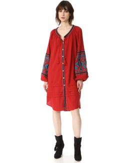 In The Clear Embroidered Shirtdress