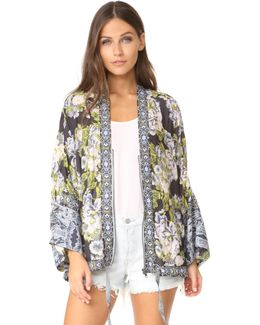 Wildflower Cinched Kimono