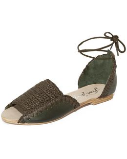 Beaumont Woven Flat Sandals