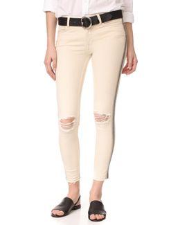 Side Embellished Skinny Jeans