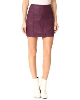 Modern Femme Vegan Miniskirt