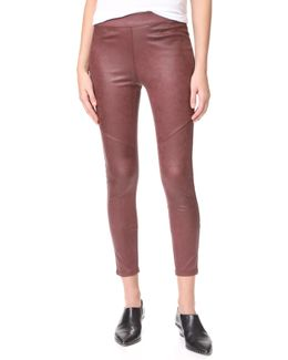 Vegan Suede Leggings
