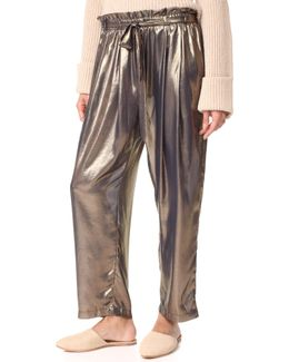 Metal Harem Pants