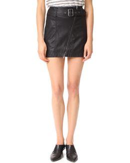 Feelin Fresh Vegan Leather Skirt