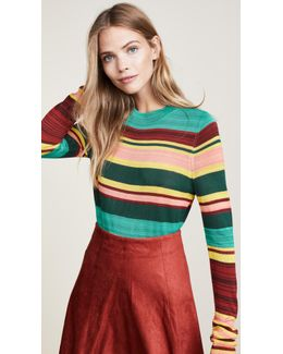 Show Off Your Stripes Crew Sweater