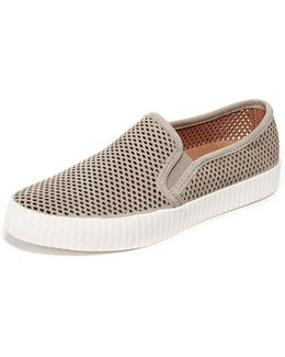 Camille Perforated Slip On Sneakers