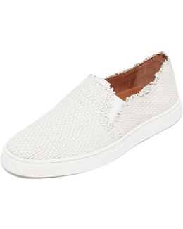 Ivy Fray Woven Slip On Sneakers