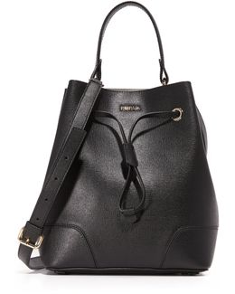 Stacy Small Drawstring Bucket Bag