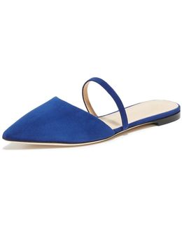 Non Embroidered Suede Flats