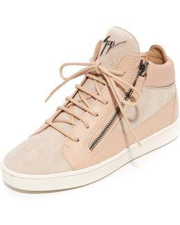High Top Zip Sneakers