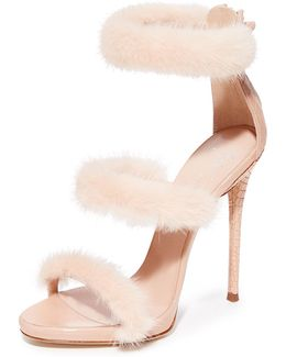 Coline Sandal Heel With Fur
