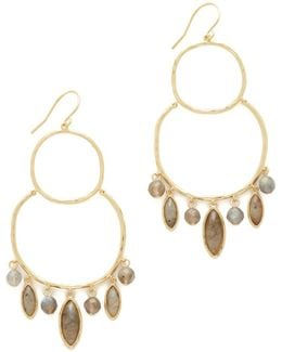 Eliza Gemstone Chandelier Earrings