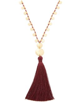 Leucadia Beaded Tassel Necklace