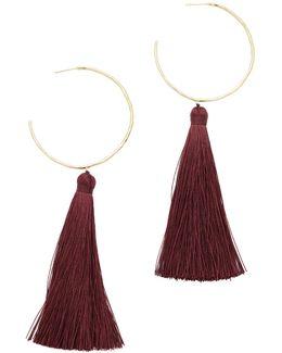 Leucadia Tassel Hoop Earrings