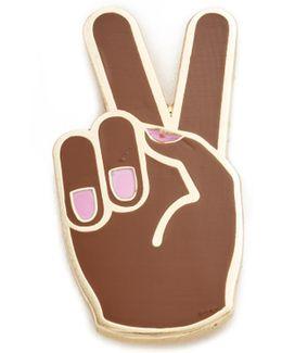 Peace Hand Lapel Pin