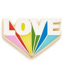 Love Beams Lapel Pin