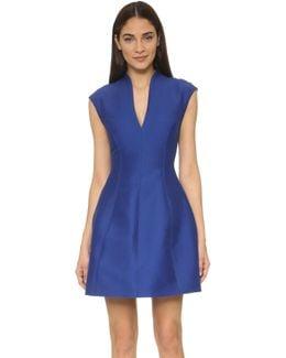 Cap Sleeve Structured Dress