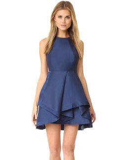 High Neck Structured Dress