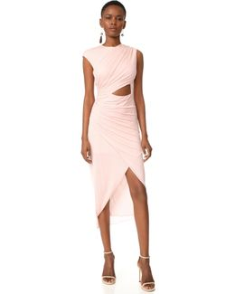 Round Neck Draped Dress
