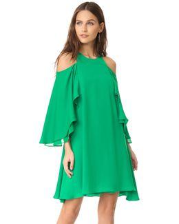 Cold Shloulder Ruffle Dress