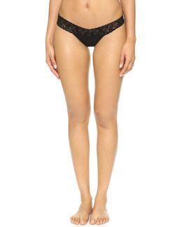 Cotton With A Conscience Petite Low Rise Thong - Black