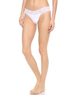 Cotton With A Conscience Petite Low Rise Thong
