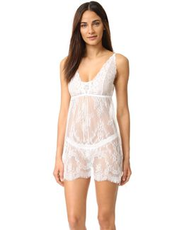 Victoria Lace Chemise With G-string